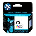 Cartucho HP 75 Jato de Tinta Tricolor 6ml - CB337WB