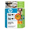 Cartucho HP 56 Twin Pack Preto (Pack Com 2 C6656AL) 19,5ml C9319FL
