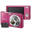 C�mera Digital Sony Cyber Shot W610 Rosa com 14.1MP, Tela LCD de 2.7
