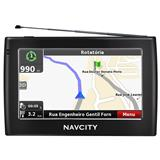 GPS NavCity Way 55 - 5 Polegadas Touch, TV Digital, Rota Certa e Alerta de Radar